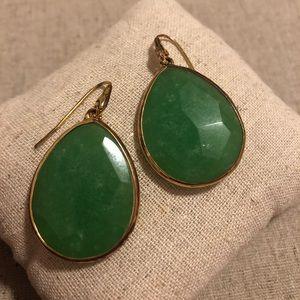 Stella & Dot Serenity Stone Drops - Jade